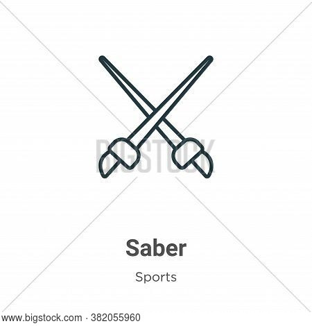 Saber icon isolated on white background from sports collection. Saber icon trendy and modern Saber s