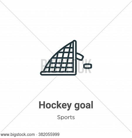 Hockey goal icon isolated on white background from sports collection. Hockey goal icon trendy and mo