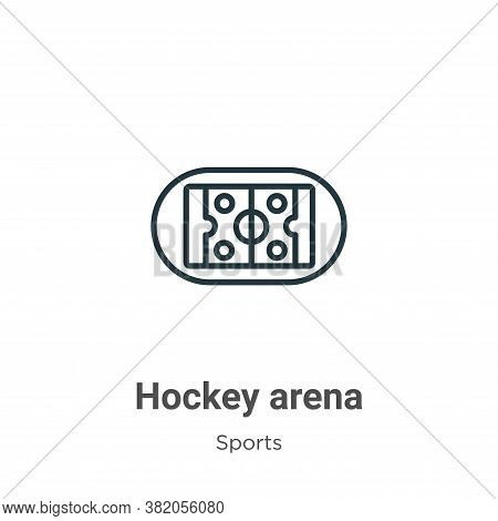 Hockey arena icon isolated on white background from sports collection. Hockey arena icon trendy and
