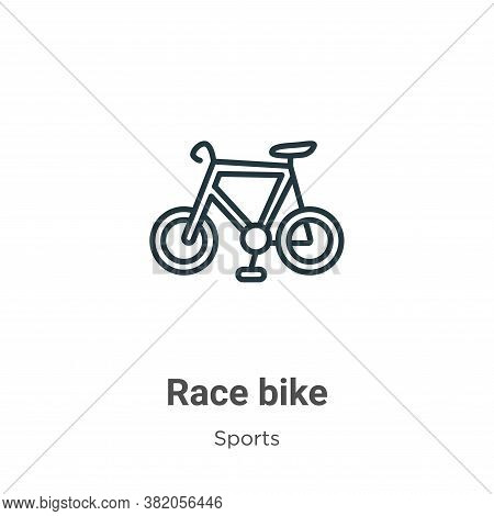 Race bike icon isolated on white background from sports collection. Race bike icon trendy and modern