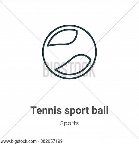 Tennis sport ball icon isolated on white background from sports collection. Tennis sport ball icon t