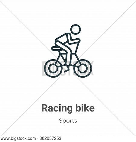 Racing bike icon isolated on white background from sports collection. Racing bike icon trendy and mo