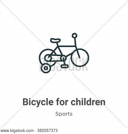 Bicycle for children icon isolated on white background from sports collection. Bicycle for children