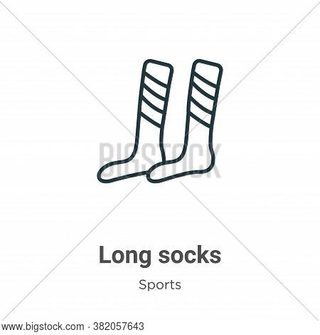 Long socks icon isolated on white background from sports collection. Long socks icon trendy and mode