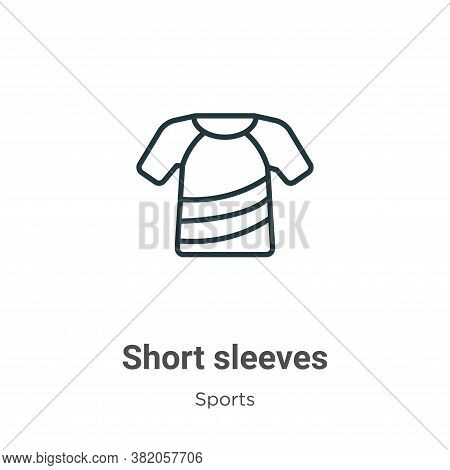 Short sleeves icon isolated on white background from sports collection. Short sleeves icon trendy an