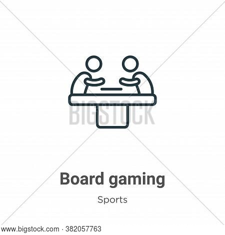 Board gaming icon isolated on white background from sports collection. Board gaming icon trendy and