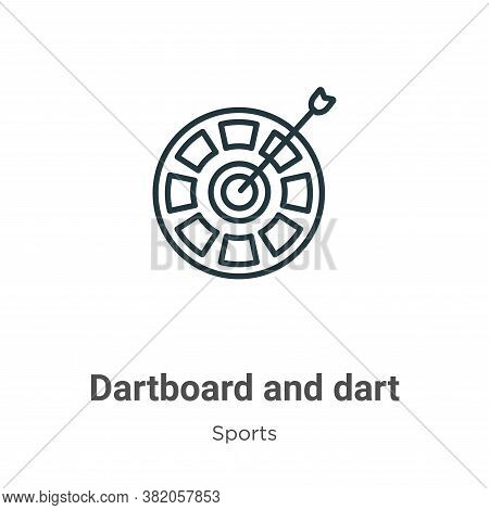 Dartboard And Dart Icon From Sports Collection Isolated On White Background.