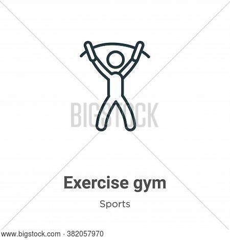 Exercise gym icon isolated on white background from sports collection. Exercise gym icon trendy and