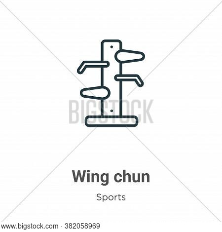 Wing chun icon isolated on white background from sports and competition collection. Wing chun icon t