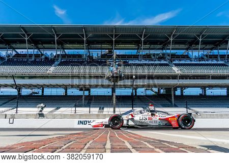 August 21, 2020 - Indianapolis, Indiana, USA: MARCO Andretti (98) of the United States  practices for the Indianapolis 500 at the Indianapolis Motor Speedway in Indianapolis, Indiana.