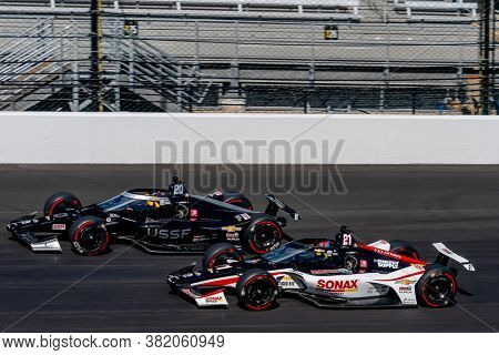 August 21, 2020 - Indianapolis, Indiana, USA: ED CARPENTER (20) Of the United States   practices for the Indianapolis 500 at the Indianapolis Motor Speedway in Indianapolis, Indiana.