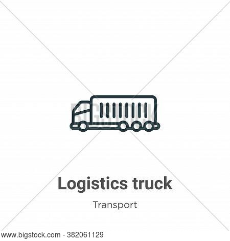 Logistics truck icon isolated on white background from transport collection. Logistics truck icon tr