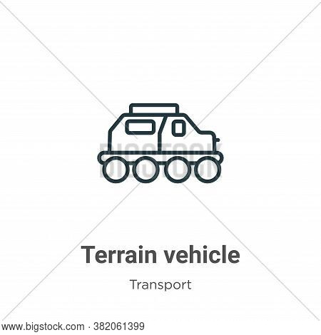 Terrain vehicle icon isolated on white background from transport collection. Terrain vehicle icon tr