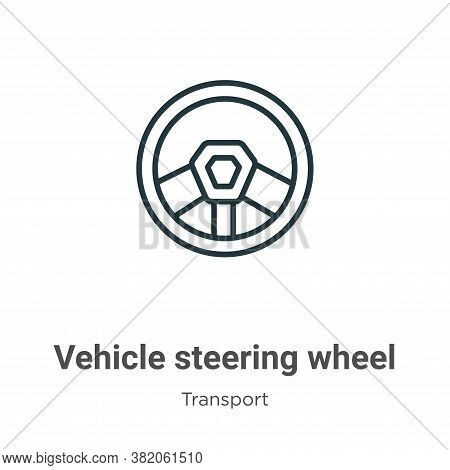 Vehicle steering wheel icon isolated on white background from transport collection. Vehicle steering