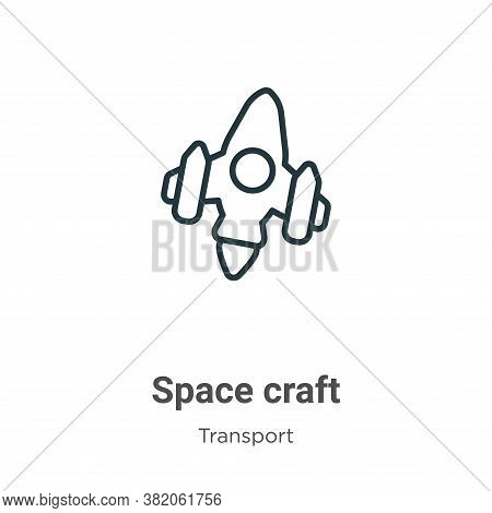 Space craft icon isolated on white background from transport collection. Space craft icon trendy and