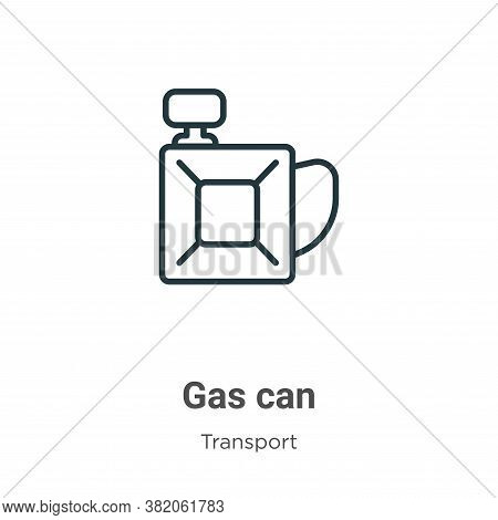 Gas can icon isolated on white background from transport collection. Gas can icon trendy and modern
