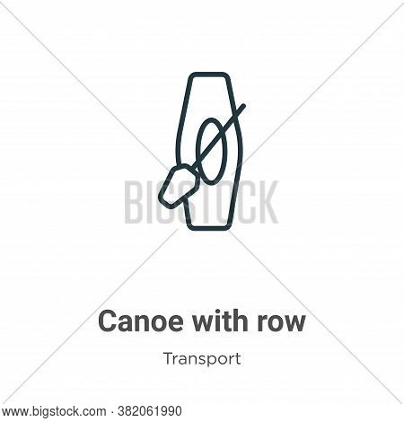 Canoe with row icon isolated on white background from transport collection. Canoe with row icon tren