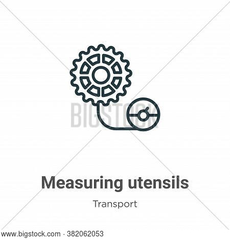 Measuring utensils icon isolated on white background from transport collection. Measuring utensils i