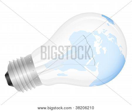 Light Bulb World Map