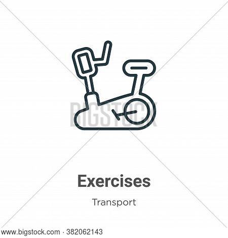 Exercises icon isolated on white background from transport collection. Exercises icon trendy and mod