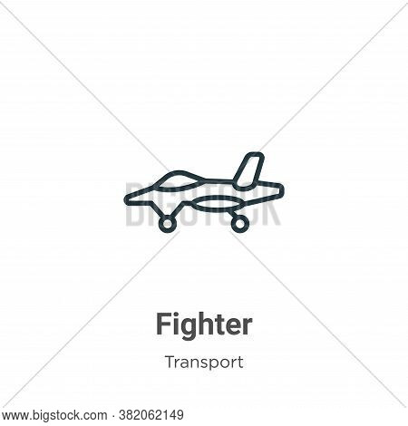 Fighter icon isolated on white background from transport collection. Fighter icon trendy and modern