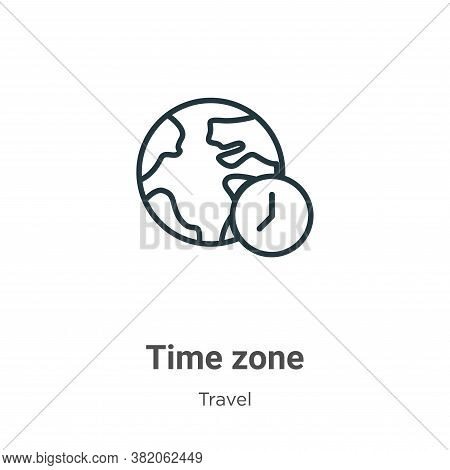 Time zone icon isolated on white background from travel collection. Time zone icon trendy and modern