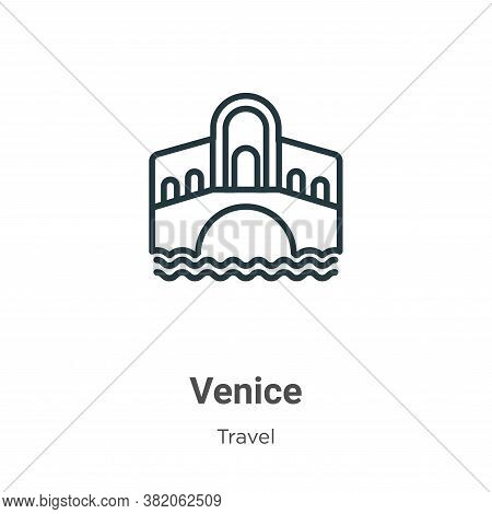 Venice icon isolated on white background from travel collection. Venice icon trendy and modern Venic