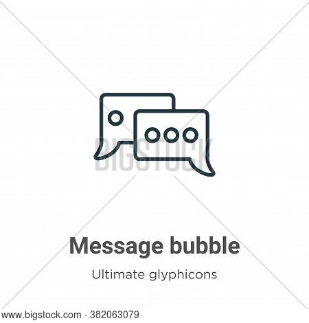 Message bubble icon isolated on white background from ultimate glyphicons collection. Message bubble