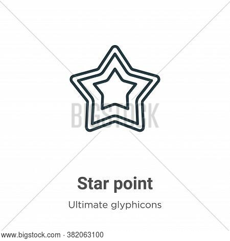 Star point icon isolated on white background from ultimate glyphicons collection. Star point icon tr