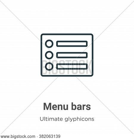 Menu bars icon isolated on white background from ultimate glyphicons collection. Menu bars icon tren