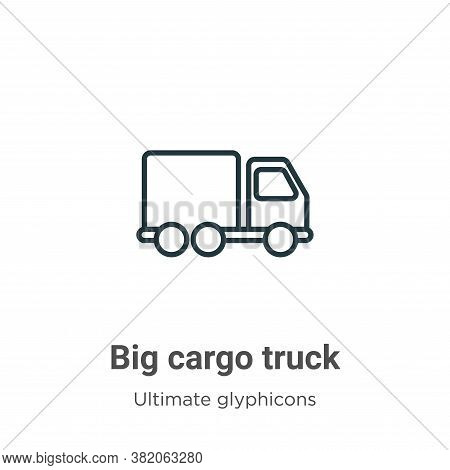 Big cargo truck icon isolated on white background from ultimate glyphicons collection. Big cargo tru