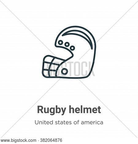 Rugby helmet icon isolated on white background from united states of america collection. Rugby helme