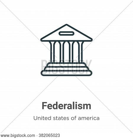 Federalism icon isolated on white background from united states of america collection. Federalism ic