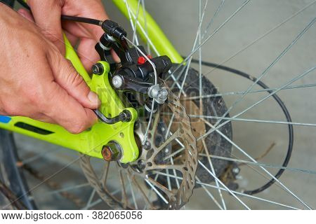 Adjustment Of Brakes On The Bicycle, Installation Of Disc Brakes On A Bicycle, Service For Maintenan