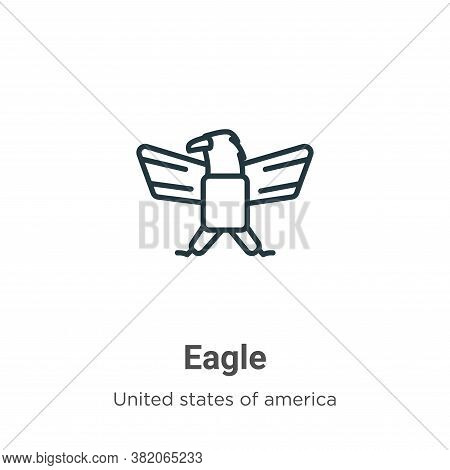 Eagle icon isolated on white background from united states collection. Eagle icon trendy and modern