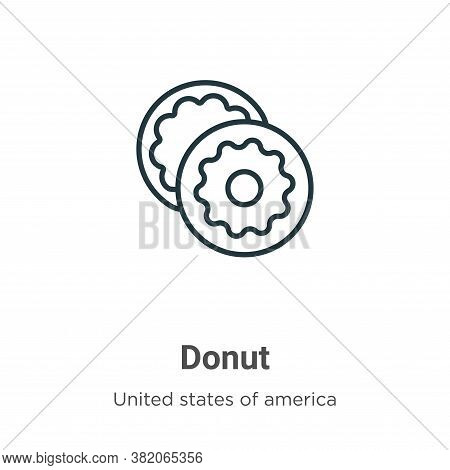 Donut icon isolated on white background from united states collection. Donut icon trendy and modern