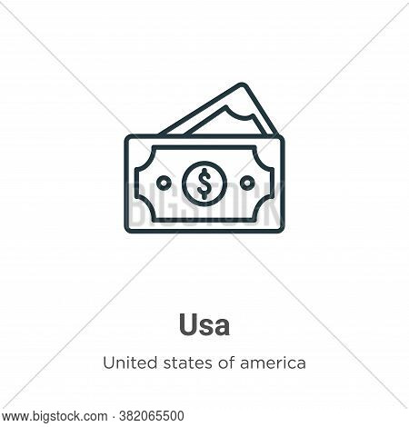 Usa icon isolated on white background from united states collection. Usa icon trendy and modern Usa