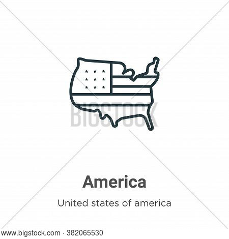 America icon isolated on white background from united states collection. America icon trendy and mod