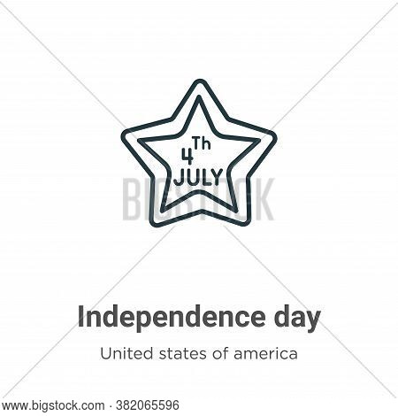 Independence day icon isolated on white background from united states collection. Independence day i