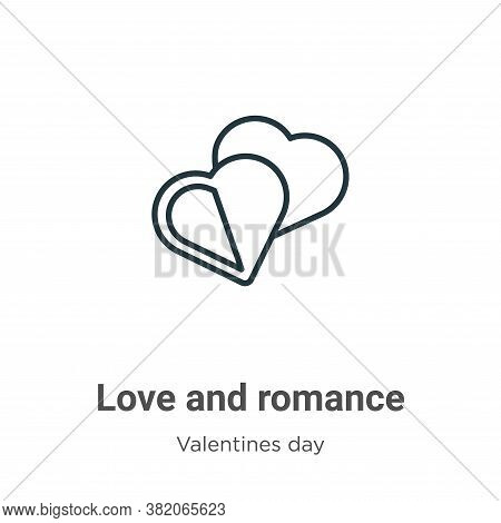 Love and romance icon isolated on white background from valentines day collection. Love and romance