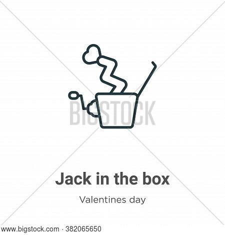 Jack in the box icon isolated on white background from valentines day collection. Jack in the box ic
