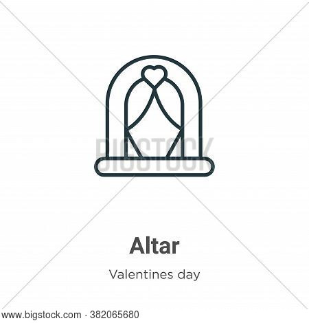 Altar icon isolated on white background from valentines day collection. Altar icon trendy and modern