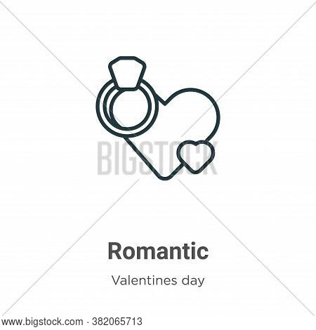 Romantic icon isolated on white background from valentines day collection. Romantic icon trendy and