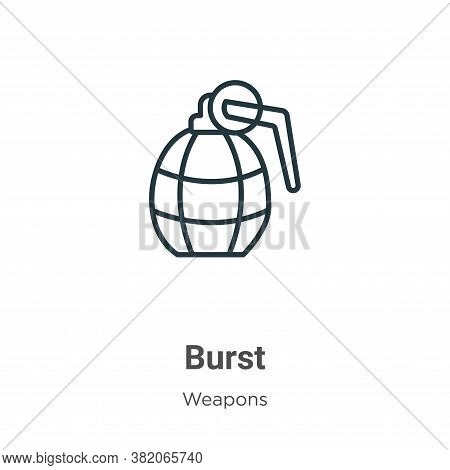 Burst icon isolated on white background from weapons collection. Burst icon trendy and modern Burst