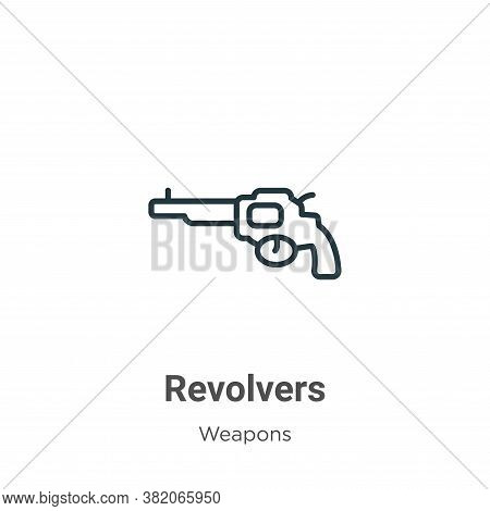 Revolvers icon isolated on white background from weapons collection. Revolvers icon trendy and moder