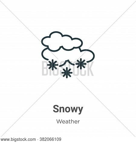 Snowy icon isolated on white background from weather collection. Snowy icon trendy and modern Snowy