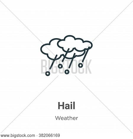 Hail icon isolated on white background from weather collection. Hail icon trendy and modern Hail sym