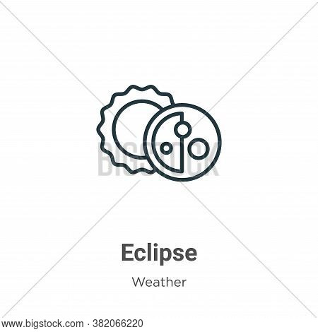 Eclipse icon isolated on white background from weather collection. Eclipse icon trendy and modern Ec
