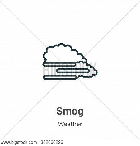Smog icon isolated on white background from weather collection. Smog icon trendy and modern Smog sym