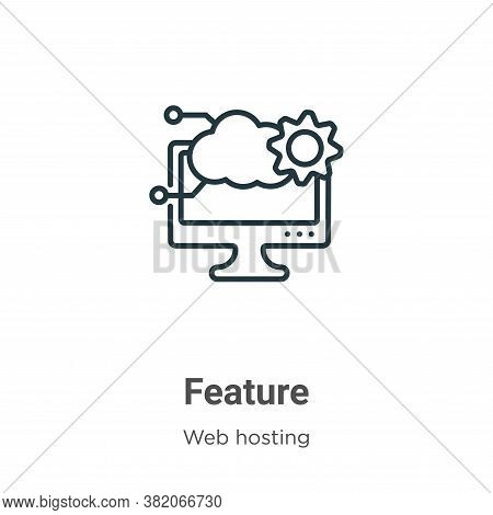 Feature icon isolated on white background from web hosting collection. Feature icon trendy and moder